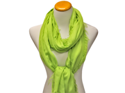Lime Green Ultra Soft Semi Sheer Viscose Long Shawl Wrap Scarf