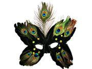 Black Butterfly Peacock Masquerade Feather Mask