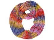 Purple Multicolor Ombre Gradient Thick Knit Circle Infinity Scarf