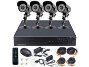 4CH H.264 DVR System Home Video Surveillance 2TB & 20m IR Security CCTV Camera Indoor Outdoor