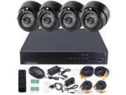 4CH H.264 DVR System Home Surveillance Video Recorder 2TB VGA & Indoor IR Security CCTV Camera