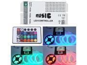 12-24V 24 Key Wireless IR Remote Control LED Music Sound Controller Dimmer for RGB LED Strips