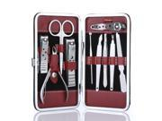 Stainless Steel Manicure Pedicure Ear pick Nail-Clippers Set 10 in 1