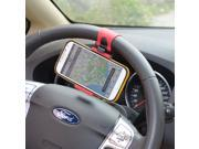 5PCS Portable Elastic Car Steering Wheel Holder for iPhone 4S 5 5S 5C Smartphone GPS MP4 PDA