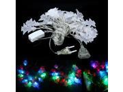 RGB 20LED 4M String Lights Christmas / Wedding / Party Decoration EU Plug 220V Christmas Tree Pendant