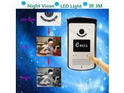 EBELL ATZ-DB003P Multifunction Wireless WiFi Smart Video Visual Door Phone IP Doorbell P2P Detection Home Security for Android IOS Mobile Phone Tablet PC