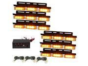 54 LED Amber Emergency Vehicle Strobe Lights Car Truck Flash Warning Lights for Front Grille/Deck