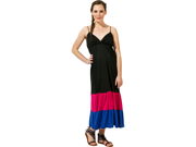 Color Block Tiered Maxi Dress Plus Size