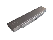 Compatible for Sony VAIO VGN FT50B 6 Cell Silver Battery