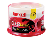 MAXELL 625156 - CDR80MU50PK Maxell 625156 - cdr80mu50pk music cd-rs (50-ct spindle)