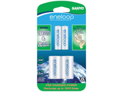 "Eneloop SEC-NCSC2AAN 2-pack 2000mAh AA Ni-MH Batteries with ""C"" Spacer"