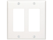 UNION 80409W Residential-Grade D?cora(R) Wall Plates (Dual gang&#59; White)
