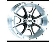 Itp 14ss122bx ss108 alloy wheel machined w/b lack 14x8 4/137 5+3 by ITP