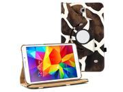 "KIQ (TM) Giraffe 360 Degree Rotating Leather Case Skin Cover Stand for Samsung GALAXY TAB 4 8"" T330"