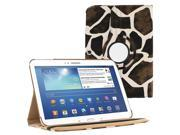 "KIQ (TM) Giraffe 360 Rotating Leather Case Cover Skin for Samsung Galaxy Tab 3 10.1"" P5200"