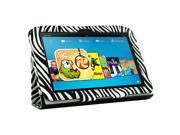 KIQ (TM) Zebra Portfolio Leather Case Cover for Kindle Fire 8.9 HD