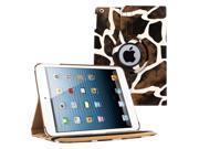 KIQ (TM) GIRAFFE 360 Rotating PU Wake/Sleep Leather Case Skin Cover for Apple Ipad Air 2 6 Gen