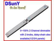 DSunY manual dimmable full spectrum Led Aquarium Light—DL2-FS LED Lighting System for Fish Tank with 2 panels