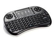 iClever® IC-RF02 Mini 2.4GHz Wireless Entertainment QWERTY Keyboard with Multi-Touch Mouse Touchpad for PC, Pad, Andriod TV Box, Google TV Box, Xbox360, PS3 & HTPC/IPTV (Not for Samsung Smart TV)