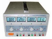 Dr.meter HY3003D-3 TRIPLE LINEAR DC POWER SUPPLY 30V 3A,Input voltage 104-127V with Banana to Alligator Cable, USA
