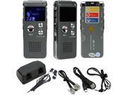 Rechargeable 8GB Digital Audio Voice Recorder Dictaphone Telephone MP3 Player