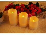 "Ohuhu® 3 Flameless Candles / Tea Lights / LED Candles with Remote Control and Timer, [4"", 5"", 6""] Warm Yellow Light"