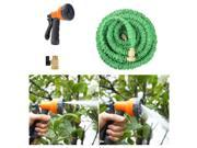 Ohuhu® 25 Feet Super Strong Garden Hose / Expandable Hose, 25 ft Expandable Garden Hose with All Brass Connector & Free 8-pattern Spray Nozzle, Green