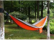 "Ohuhu® Portable Nylon Fabric Travel Camping Hammock, 115"" Long X 55"" Wide, 600-Pound Capacity, Orange & Gray"