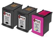 Laser Tek Services® HP 901XL Compatible High Yield Replacement Ink Three Pack (2 Black CC654AN and 1 Tri-Color CC656AN)