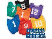 Sport Supply Group Lightweight Numbered Adult Scrimmage Vest- Set Of 12 Adult