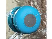 Waterproof Wireless Bluetooth 3.0 Mini Shower Speaker & Handsfree Microphone for iPhone 4S/5/5S/5C/6/6 plus Samsung Galaxy S3/S4/Note2/3 HTC One M7 One X Blackberry Z10 MP3/MP4 Player Kindle Fire Blue