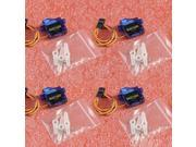 4 Pcs SG90 9G Micro Small Servo Motor RC Robot Helicopter Airplane Controls for Arduino 2560 UNO R3 AVR A049
