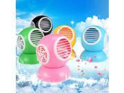 Blue Mini Portable Bladeless Perfume Fan Cooler Desktop Air Conditioner Freshener - USB Powered