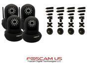 4-x-Foscam-FI8910W-Black-WiFi-N-Stronger-Signal-CCTV-IR-Cut-w-Universal-Bracket