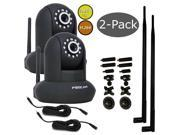 Foscam FI9831W 2-Pack Bundle w/ 9dbi 10ft Extension & Universal Bracket Black
