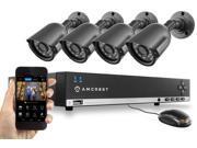 Amcrest 960H HD 4CH 500GB DVR Security Camera System w/ 4 x 800+ TVL Bullet Cameras (AMDV960H4-4B)