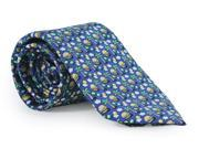 Vineyard Vines Necktie Tie Cheeseburger in Paradise  Navy Blue Silk Necktie New