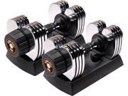 Stamina 50 lb. Versa Bell II Pro (chrome/pair) - 05-2155P