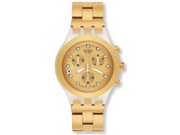 Swatch Diaphane Chronograph Full Blooded Gold Unisex Watch SVCK4032G