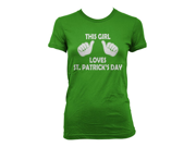 Kids This Girl Loves St Patricks Day T-shirt Funny Youth St Pattys Tee XL