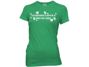 Everyone loves a drunk girl t shirt womens st patricks day t shirt