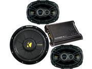 Kicker 11 ZX350.4+40CS6934+40CWD102 4-Ch Amplifier w/Spkrs and Sub