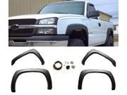 99-06 CV SILVERADO POCKET FENDER FLARES SMOOTH MATT BLK