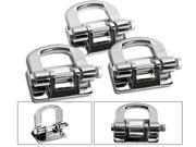 06-10 HUMMER H3 H3T STAINLESS STEEL SS CHROME TOW HOOK 3pcs SET FRONT AND REAR