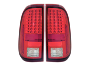 08-10 Ford F-450 Super Duty LED Tail Lights Red/Clear