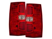 07-08 GMC Yukon Tail Lights Red/Clear