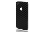 SLICKWRAPS - Skin Wrap for  iPhone 4 4S - Black Carbon Fiber