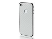 SLICKWRAPS - Skin Wrap for  iPhone 4 4S - White Carbon Fiber