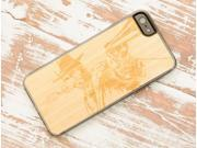 CARVED - Wild West - Bamboo Wood iPhone 5 / 5S Clear Case