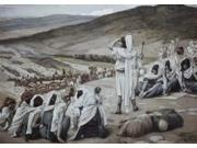 Jacob Sees Esau Coming to Meet Him , James Tissot (1836-1902 French), Jewish Museum, New York, USA Poster Print (18 x